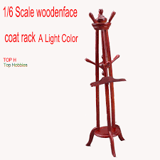 Red Coat Rack Red 100100 scale Scenes annex woodenface coat rack 100cm Model furniture 28