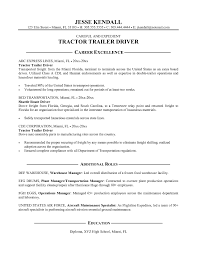 Cdl Resume Objective Truck Driver Resume Samples Box Professional