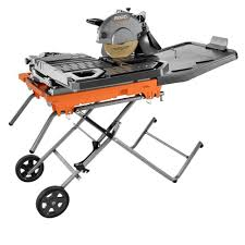 ridgid wet tile saw with stand the home depot table parts saws blades bosch ryobi inch