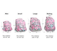 Backpack Volume Chart Backpack Size Comparisons Pottery Barn Kids Toddler