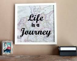 vinyl wall decor quote wall decor framed sayings framed quotes picture quotes vintage map framed wall art life is a journey on quote wall art frames with picture wall quotes ocean theme framed wall art vinyl