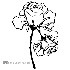 Small Picture Hand Drawn Rose Vector Image 123Freevectors
