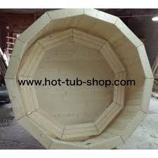 Ø 180 baltic hot tub spruce external heater