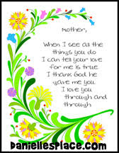Mothers Day Poems From Kids (son or daughter)