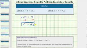 solve one step equations using addition and subtraction whole numbers