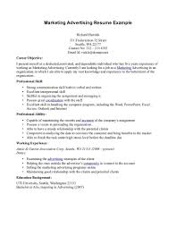 Advertising Resume Examples Examples Of Resumes