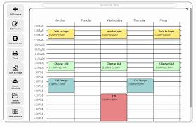 Class Schedule Maker Free Online Elegant Timetable Maker For