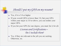 gpa in resumes should i put my gpa on my resume globish me