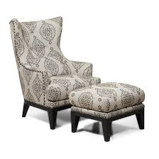 Wingback Recliners Chairs Living Room Furniture Furniture Microfiber Wingback Chairs With Ottoman And Tall