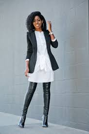 posts tagged with black leather over the knee boots