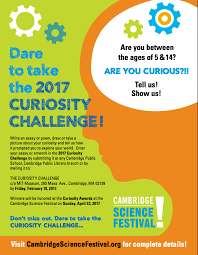 curiosity challenge cambridge science festival dare to take the 2017 curiosity challenge