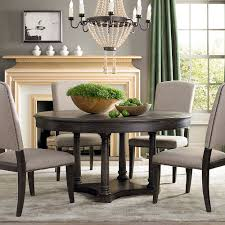 Chandelier Over Dining Room Table Dining Table Chandelier Hovering Just Above A Round Rustic Dining