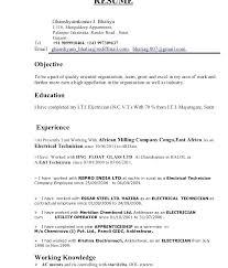 Electrician Cv Example Uk Journeyman Template Voipersracing Co