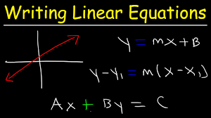 writing linear equations given two points in standard form point slope form