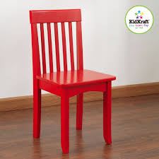 terrific red wooden chair architecture