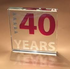 image is loading 40th ruby wedding anniversary gifts eform gl n