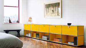 modern storage cabinets. usm haller golden-yellow credenza with 5 storiage and shelving cabinets, contemporary bedroom furniture - modern storage cabinets