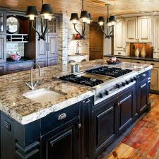 luxury granite top kitchen island fantastic design with black painted wood beige countertop white cart table
