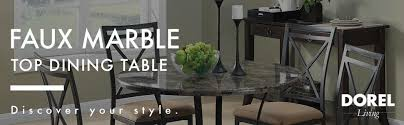 marble top dining room table. Dorel-Living-Faux-Marble-Top-Dining-Table-Small- Marble Top Dining Room Table