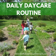 your daily daycare routine