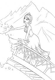Small Picture Printable Coloring Book Elsa Coloring Pages