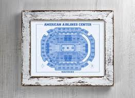 Aa Center Dallas Seating Chart Vintage Print Of American Airlines Center Seating Chart On Premium Photo Luster Paper Heavy Matte Paper Or Stretched Canvas Free Shipping