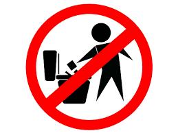 Наклейку <b>mashinokom</b> мусор в унитаз не бросать 10x10cm ...