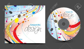 Cd Cover Design Template With Copy Space Illustration Royalty Free