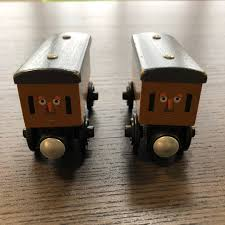 annie and clarabel from fisher s thomas the train wooden railway series babies kids toys walkers on carou
