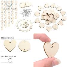 wood craft circles with holes details about pieces in total wooden circles wooden heart tags with wood craft circles with holes