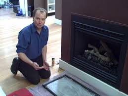 fireplace glass cleaning