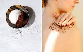A scrub for your skin made from coffee grounds. How I Use Coffee To Get Amazing Legs Aisle 9
