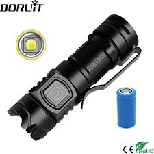 BORUiT Siêu Sáng SST40 Đèn Pin LED 1600LM USB Đèn Pin Sạc IPX6 EDC Mini Bỏ  Túi Lanterna Cho Bikecycle Cắm Trại Đèn Pin LED