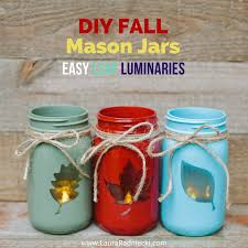 reversible 2 in 1 diy fall mason jars easy leaf luminary craft