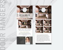 Door Hanger Design Template Inspiration Ai Real Estate Door Hanger Template Real Estate Door Hanger Etsy