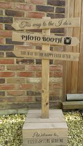 personalised rustic wooden sign post