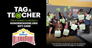 Buy a valero gas station & car wash gift card. Tag A Teacher Raffle Contest Update Valero Alamo Bowl