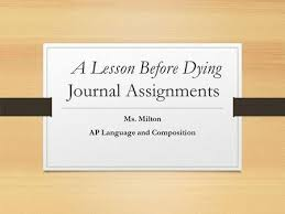 characterization in literature ppt video online a lesson before dying journal assignments