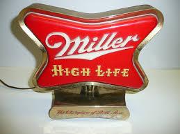 Miller Display Light Vintage 1950s Miller High Life Beer Bar Cash Register Light