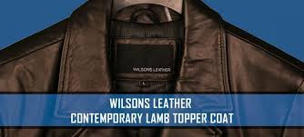 wilsons leather contemporary lamb topper coat review 569 99