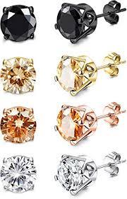 KesaPlan 4 Pairs Sterling Silver Stud Earrings for ... - Amazon.com