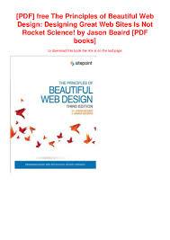 Free Web Design Books Pdf Pdf Free The Principles Of Beautiful Web Design Designing