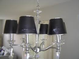 excellent lamp shade chandelier black shade with steel and crystal