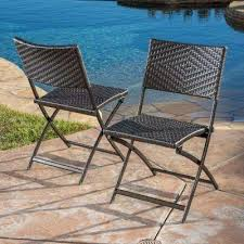 el paso multi brown stationary wicker outdoor dining chairs 2 set