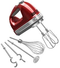 kitchenaid hand mixer 9 speed. amazon.com: kitchenaid khm920a 9-speed hand mixer candy apple red - with (free dough hooks, whisk, milk shake liquid blender rod attachment and accessory kitchenaid 9 speed amazon.com