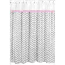 Sweet Jojo Designs Chevron Grey Shower Curtain Pink Trim - Free Shipping On  Orders Over $45 - Overstock.com - 15657463
