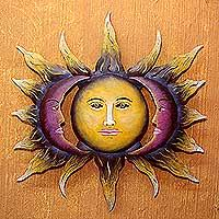 ceramic sun and moon wall art
