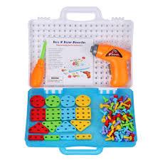 Drill N Design Mosaic Art Us 16 35 31 Off Children Diy Drill Educational Toys Screw Nut Puzzle Assembled Blocks Sets Mosaic Design Building Toy Kids Tool Screw Nut Kit On