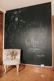 Create a mess-free chalkboard wall in minutes with peel and stick  NuWallpaper! This