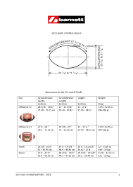 Size Chart Football Ball Ang By Barnett Issuu
